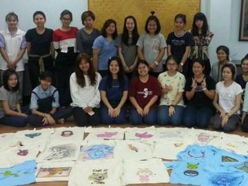 เขียนศิลป์บนเสื้อเพื่อผู้ป่วยเรื้อรัง 24 เม.ย.  T-Shirt Painting for chronic patients