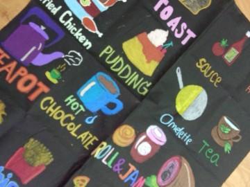 อาสาสร้างสื่อการเรียนรู้บนผืนผ้า 27 พ.ค.  Volunteer to Create Learning Material