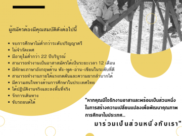 รับสมัครอาสาสมัครประจำทีมไทย