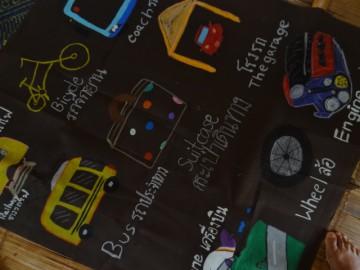 อาสาสร้างสื่อการเรียนรู้บนผืนผ้า 24 มิ.ย.  Volunteer to Create Learning Material