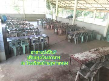 อาสาแบ่งปัน 7 ปรับปรุงโรงอาหาร ณ โรงเรียนบ้านภูพานทอง