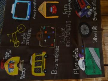 อาสาสร้างสื่อการเรียนรู้บนผืนผ้า 22 ต.ค.  Volunteer to Create Learning Material