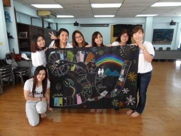อาสาสร้างสื่อการเรียนรู้บนผืนผ้า 18 มี.ค.  Volunteer to Create Learning Material – in Thailand