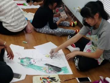 อาสาสมัคร เขียนศิลป์บนเสื้อเพื่อผู้ป่วยเรื้อรัง 20 พ.ค. T-Shirt Painting to support chronically ill patients in Thailand