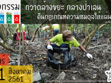 กวาดล้างขยะ กลางป่าเลน คืนกฎเกณฑ์ความสมดุลให้แผ่นดิน