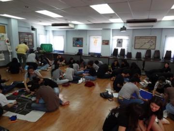 อาสาสร้างสื่อการเรียนรู้บนผืนผ้า 9 ก.ย.  Volunteer to Create Learning Material – in Thailand Sep. 9, 18