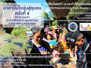 โครงการ อาสาปันไออุ่นสู่ชุมชน ครั้งที่ 4 ปี 2561