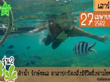ดำน้ำ รักษ์ทะเล อาสาปกป้องสิ่งมีชีวิตฝั่งอ่าวไทย รุ่น2