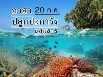 ค่ายอนุรักษ์ฯ ปลูกประการังฟื้นฟูระบบนิเวศ แสมสาร เสาร์ ๒๐ กค