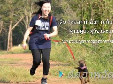 อาสาพาน้องหมาจรเดินวิ่งออกกำลังกาย